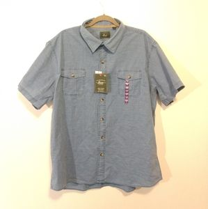 New Bass & Co Men's Plus Sized Casual Button T